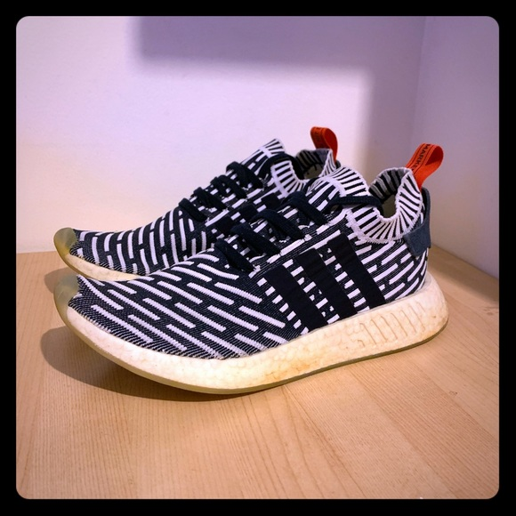 Adidas Shoes Nmd R2 Pk Mens Us 105 Navy White Red Poshmark